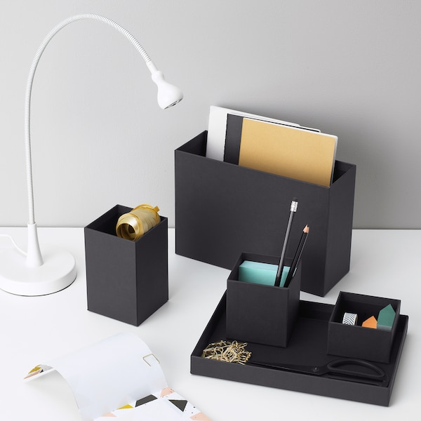 TJENA منظم مكتب, أسود, 18x17 سم