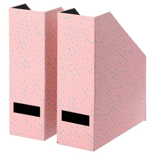 TJENA magazine file pink/dotted 10 cm 25 cm 30 cm 2 pack