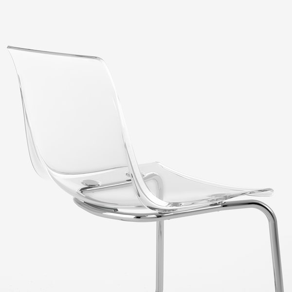 TOBIAS Chair, transparent/chrome-plated