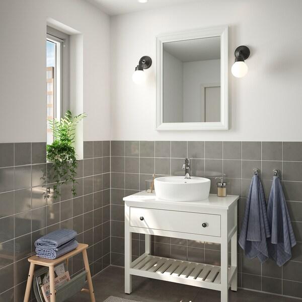 TOFTBYN مرآة, أبيض, 65x85 سم