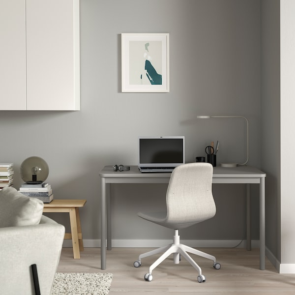 TOMMARYD Table, light grey, 130x70 cm