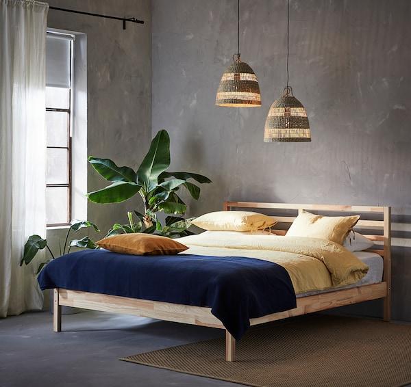 TORARED Pendant lamp shade, sedge/handmade, 36 cm