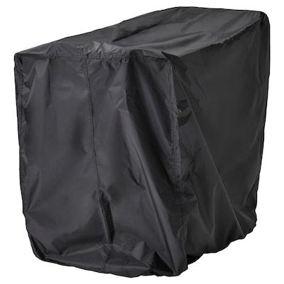 TOSTERÖ غطاء طقم أثاث, طاولة وكراسي/أسود, 100x70 سم
