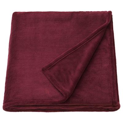 TRATTVIVA غطاء سرير, أحمر غامق, 230x250 سم