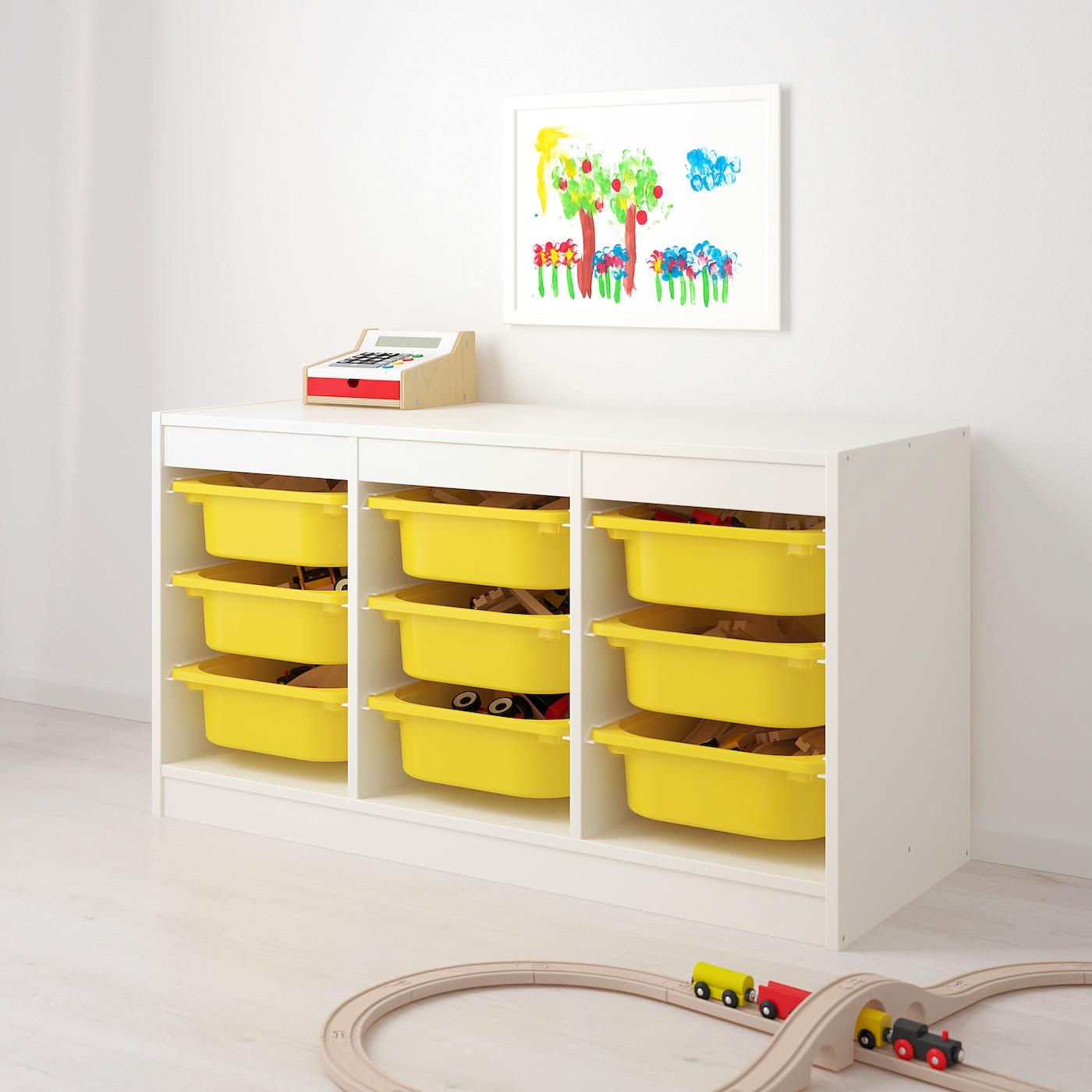 IKEA TROFAST Storage Box White Yellow Free Shipping
