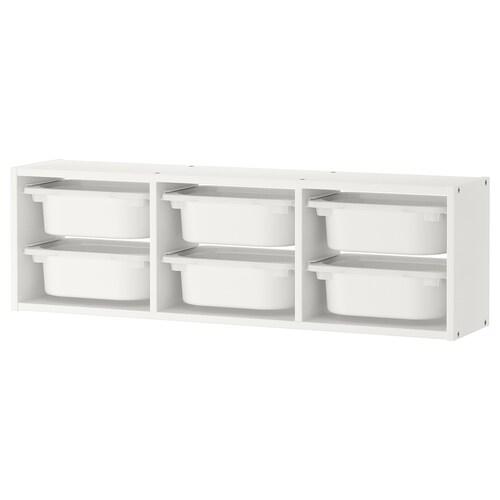 TROFAST wall storage white/white 99 cm 99 cm 21 cm 30 cm