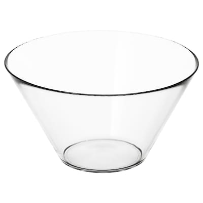 TRYGG Serving bowl, clear glass, 28 cm