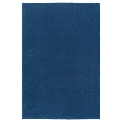 TYVELSE Rug, low pile, dark blue, 200x300 cm