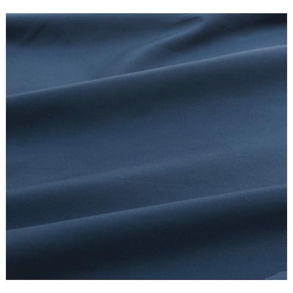 ULLVIDE شرشف بمطاط, أزرق غامق, 140x200 سم