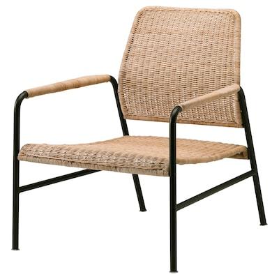 ULRIKSBERG كرسي بذراعين, خيزران/فحمي