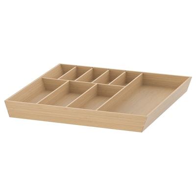 UPPDATERA Cutlery tray, light bamboo, 52x50 cm