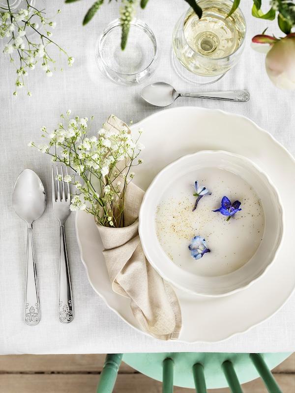UPPLAGA Bowl, white, 13 cm