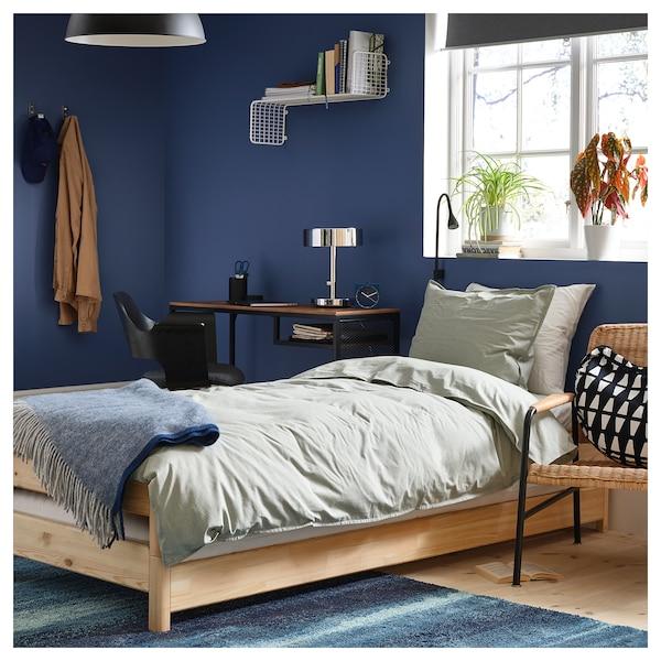 UTÅKER Stackable bed with 2 mattresses, pine/Husvika firm, 80x200 cm