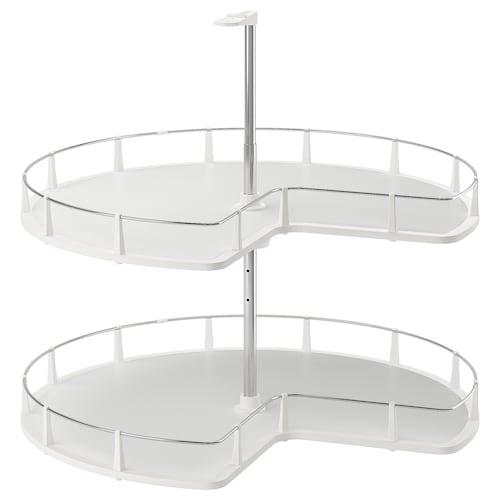 UTRUSTA corner base cabinet carousel 87.5 cm 88 cm 79 cm 66.2 cm 76.2 cm 1.2 cm 12 kg