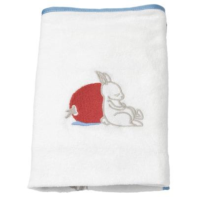 VÄDRA غطاء لفرشة العناية بالأطفال, نقش أرنب/أبيض, 48x74 سم
