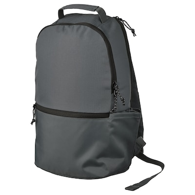 VÄRLDENS Backpack, dark grey, 16 l