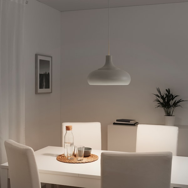 VÄXJÖ Pendant lamp, beige, 38 cm