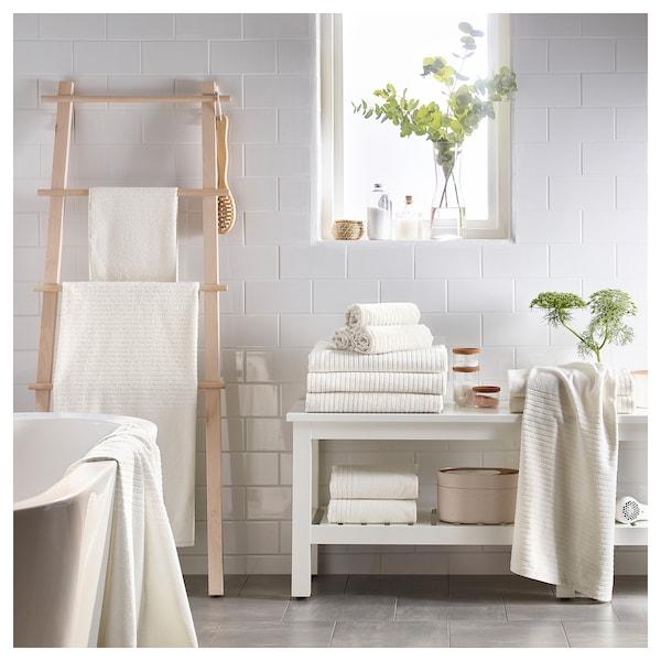 VÅGSJÖN Bath sheet, white, 100x150 cm