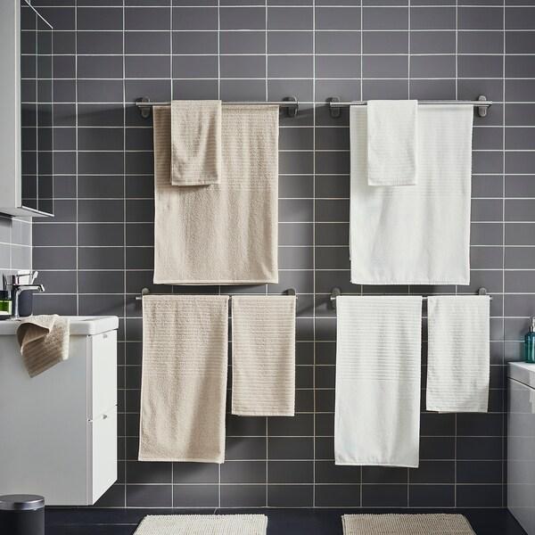 VÅGSJÖN فوطة حمام, بيج فاتح, 70x140 سم