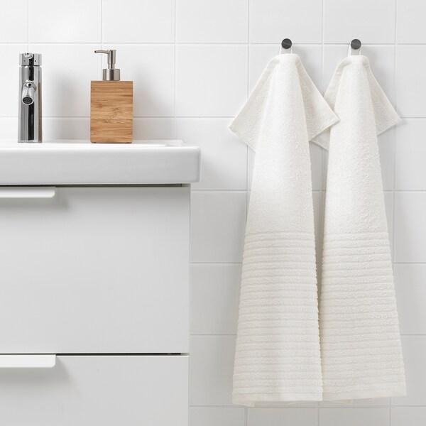 VÅGSJÖN فوطة يد, أبيض, 40x70 سم