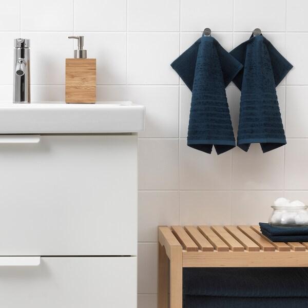 VÅGSJÖN منشفة صغيرة, أزرق غامق, 30x30 سم