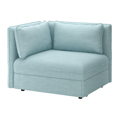 Vallentuna Sofa Bed Module With Backrests Hillared Light Blue Ikea