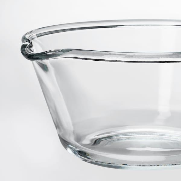 VARDAGEN سلطانية, زجاج شفاف, 26 سم