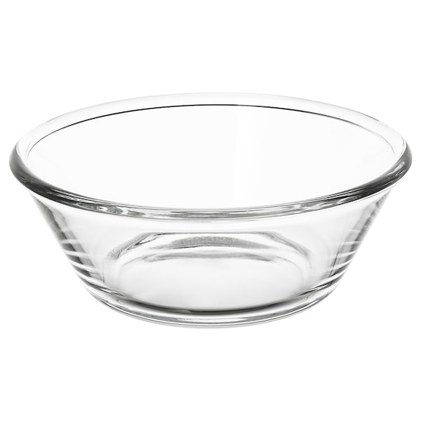 VARDAGEN Serving bowl, clear glass, 20 cm