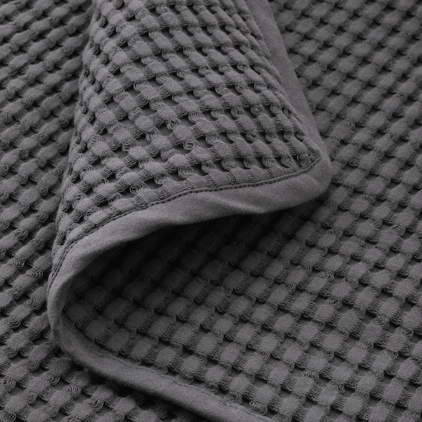 VÅRELD غطاء سرير, رمادي غامق, 150x250 سم
