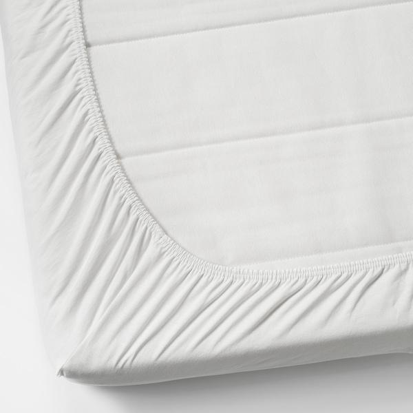 VÅRVIAL شرشف بحواف مطاطية للسرير النهاري, أبيض, 80x200 سم
