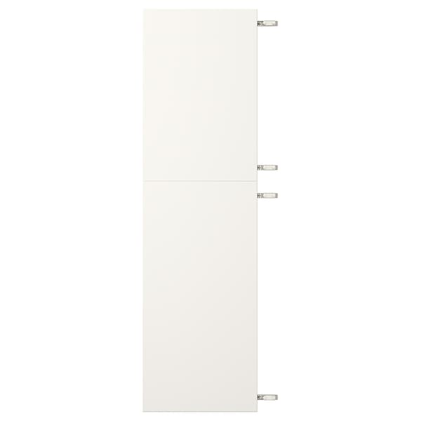 VEDDINGE Connected doors with hinges, white, 40x140 cm