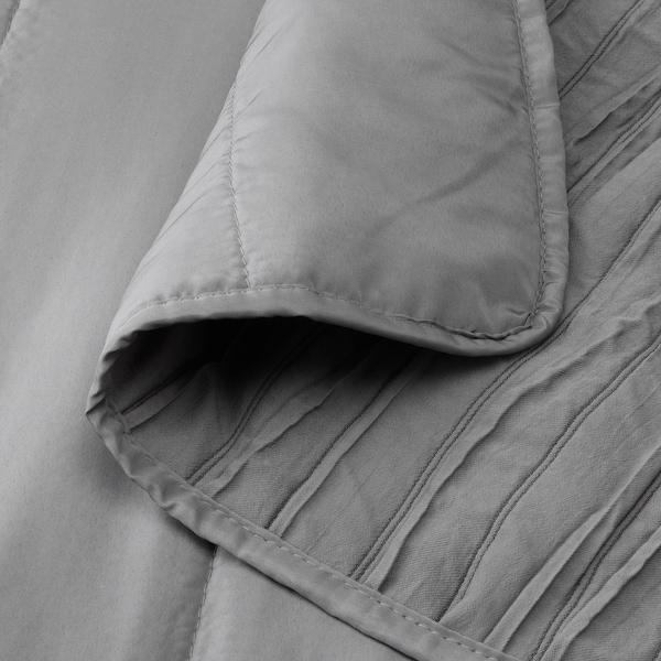 VEKETÅG غطاء سرير, رمادي, 260x250 سم