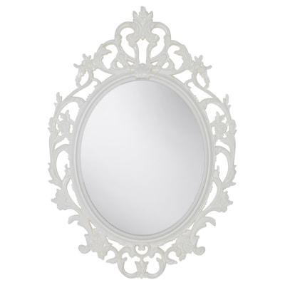VIKERSUND مرآة, شكل بيضاوي/أبيض, 59x85 سم