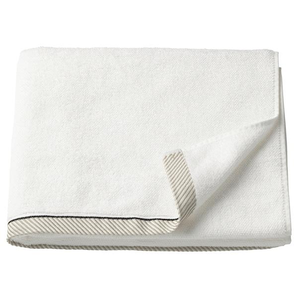 VIKFJÄRD فوطة حمام, أبيض, 70x140 سم