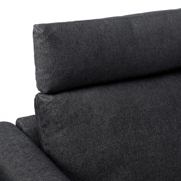 VIMLE Corner sofa, 4-seat, with open end with headrests/Tallmyra black/grey