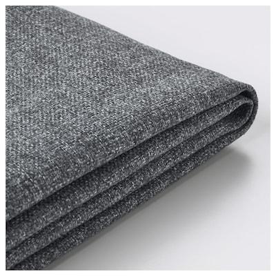 VIMLE غطاء كنبة - سرير 3 مقاعد, مع أريكة طويلة/Gunnared رمادي معتدل