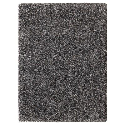 VINDUM Rug, high pile, dark grey, 133x180 cm