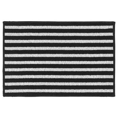 VINSTRUP سجادة باب, أسود/رمادي, 40x60 سم
