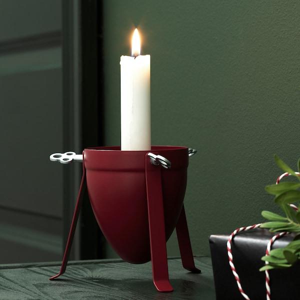 VINTER 2020 Candle holder, red, 10 cm