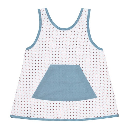 VINTER 2018 Children's apron, white, red dotted