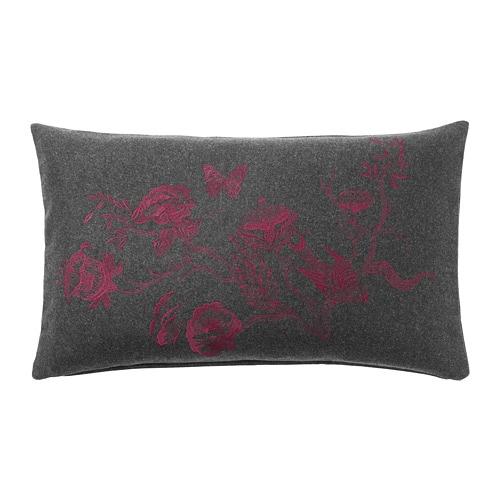 VINTER 2018 Cushion cover, dark grey, dark red