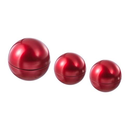 VINTER 2018 Decoration ball, set of 3, red