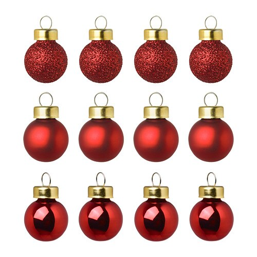 VINTER 2018 Decoration, bauble, red