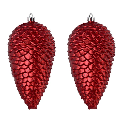 VINTER 2018 Hanging decoration, cone-shaped, red