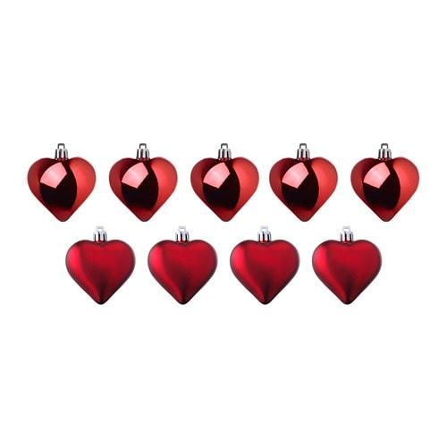 VINTER 2018 Hanging decoration, heart, red
