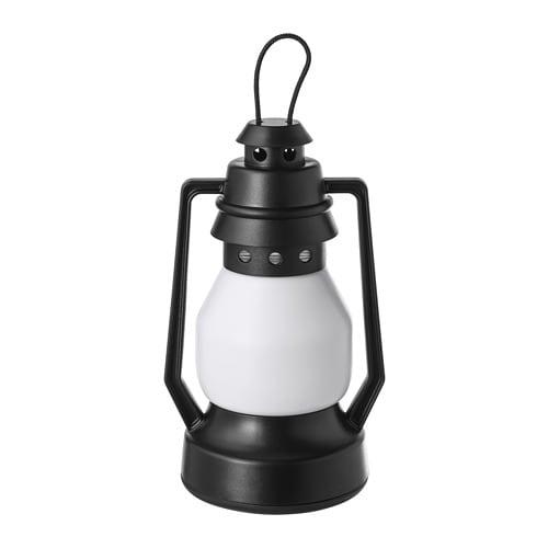 VINTER 2018 LED decoration lighting, battery-operated, lantern black