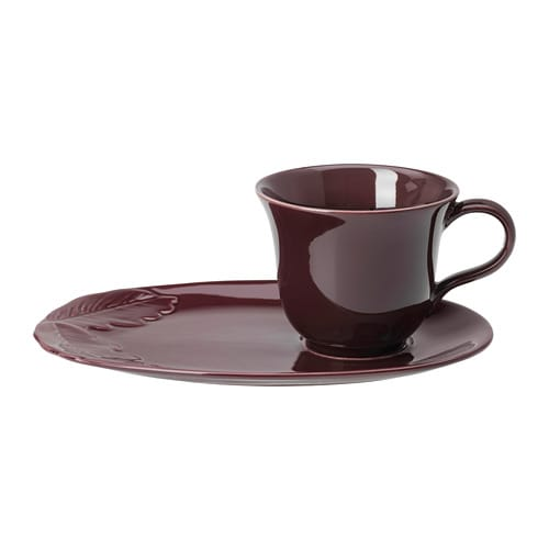 VINTER 2018 Mug and saucer, purple