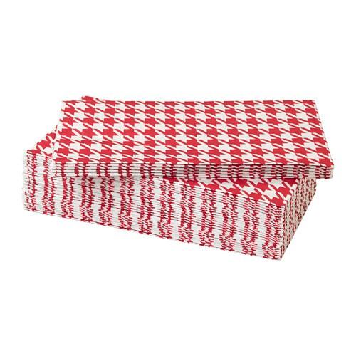 VINTER 2018 Paper napkin, red/white
