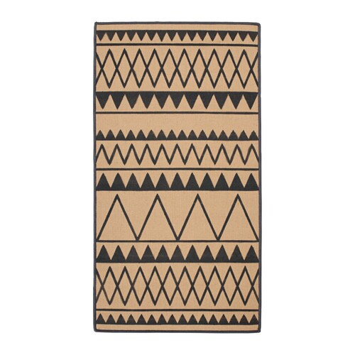 VINTER 2017 Rug, flatwoven, natural, grey