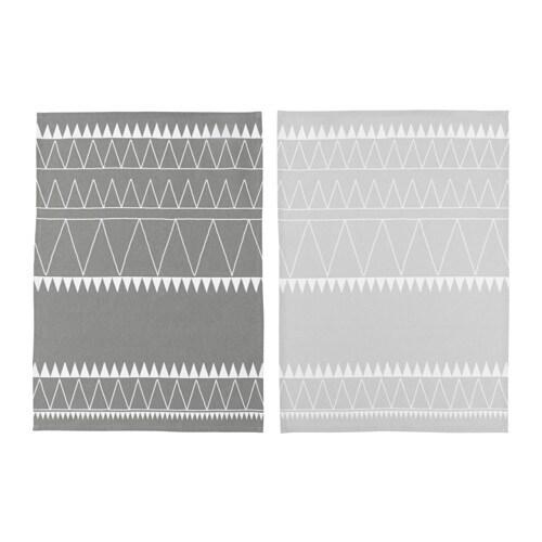VINTER 2017 Tea towel, grey, white